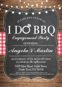 i do bbq engagement party invitation personalize now