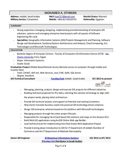 sle program analyst resume gis analyst resume sle gis specialist resume sles