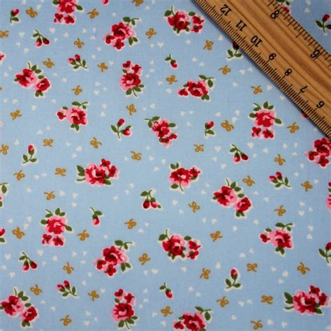 shabby chic floral cotton poplin fabric lovefabric ie