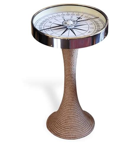 nautical end table nautical glass and coastal style compass accent side