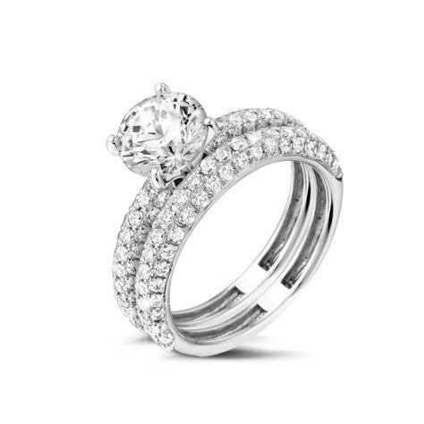 imagenes de anillos de compromiso en oro blanco anillos compromiso de diamantes en oro blanco 1 50