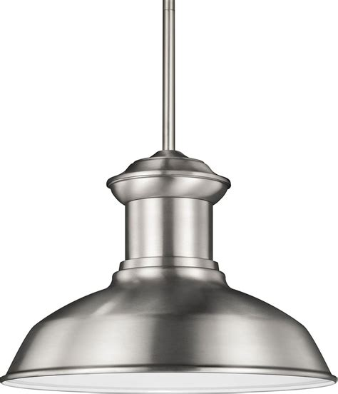 Contemporary Outdoor Pendant Lighting Seagull 6247701en 04 Fredricksburg Contemporary Satin