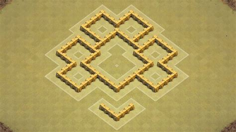 coc layout war base th5 clash of clans town hall 5 defense coc th5 best war base