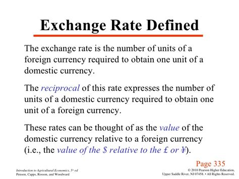 Negative Foreign Currency Impact Mba by Agri 2312 Chapter 17 Exchange Rates And Agricultural Trade