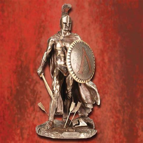 leonidas statue replica full spartan armor 804261 spartan warrior king leonidas statue in full spartan armor