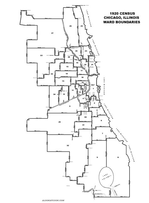 chicago map 1920 1920 ward map