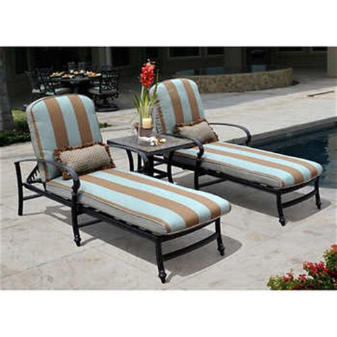Patio Lounge Chairs Costco Monte Cristo 3 Patio Lounge Set