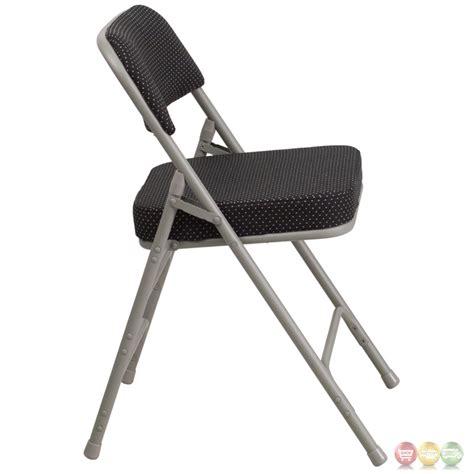 black fabric folding chairs hercules premium hinged black fabric upholstered
