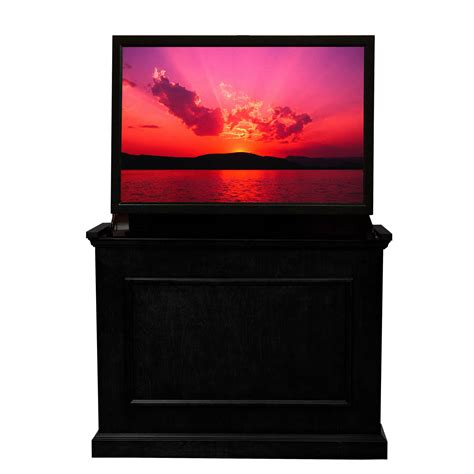 elevate tv lift cabinet elevate black tv lift cabinet