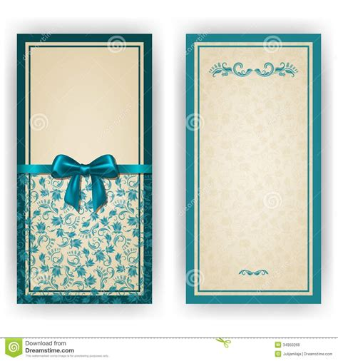 magic card template eps vector template for luxury invitation stock photo