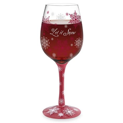 Decorated Wine Glass by Let It Snow Decorated Wine Glass