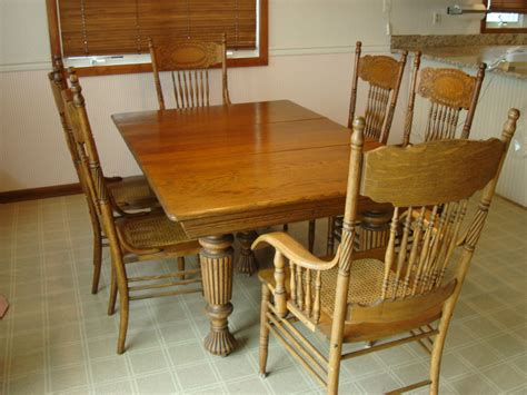 Oak Dining Room Chairs Vintage Oak Dining Room Set Eight Chairs Ebay