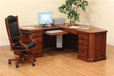 Solid Wood Corner Desk For Home Decor Ideasdecor Ideas Wood Home Office Desks