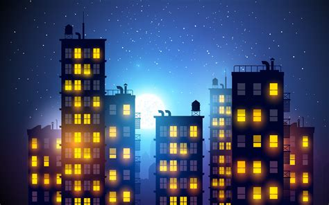 city background drawing city light drawing artwork building vector