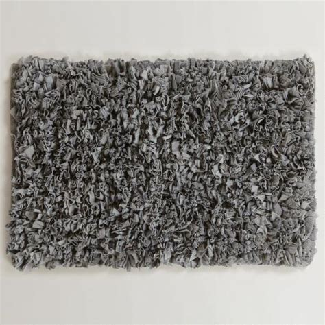 bathroom shag rug gray jersey shag bath mat world market