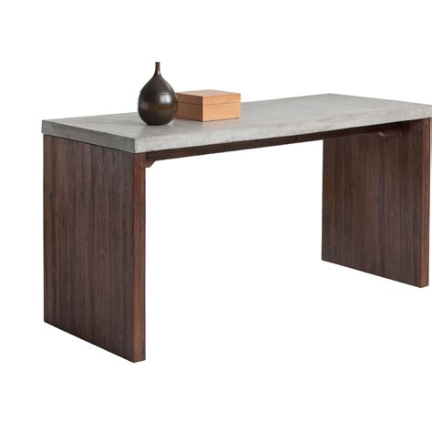 madison park afton industrial desk sunpan 100484 madrid desk w industrial concrete top on