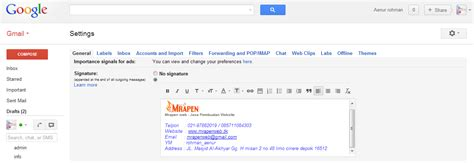 membuat signature di yahoo mail cara membuat signature di gmail mail dan yahoo mail