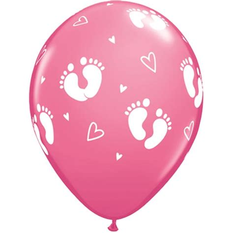 Home Decor Wholesale Market 11 Rose Baby Footprints Latex Balloons 6 11 Quot Rose Baby