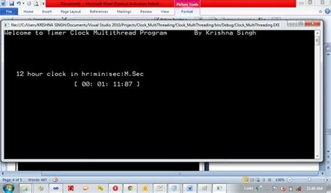 console beep songs how to create timer of multithread based program on
