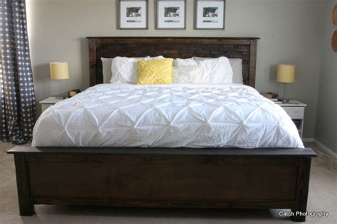 diy headboards for king beds ana white cassidy bed king diy projects