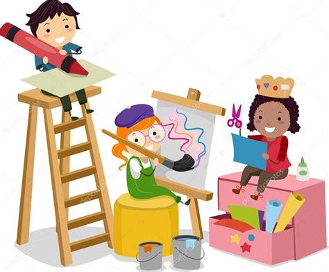 Imagenes Niños Haciendo Manualidades | stickman ni 241 os haciendo manualidades foto de stock