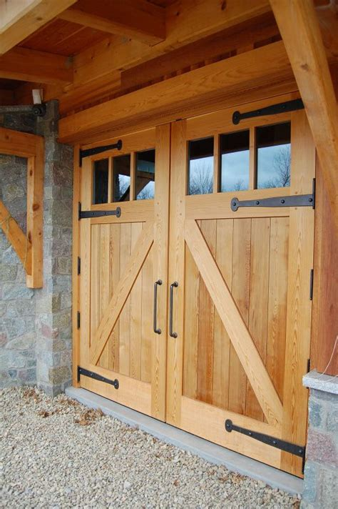 Looking More Closely At The Garage Doors The Strap Hinges Cedar Barn Door