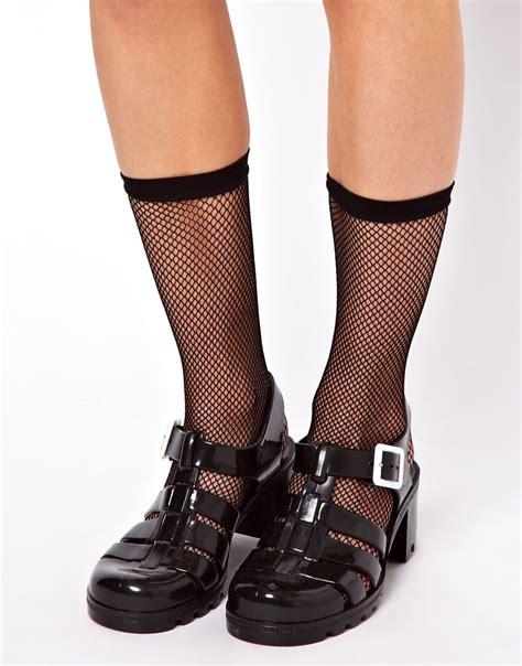 Net Socks 1 asos 50 den fish net ankle socks in black lyst