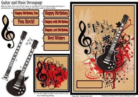 download happy birthday rock guitar version mp3 mp3 id guitar and music decoupage on craftsuprint designed by