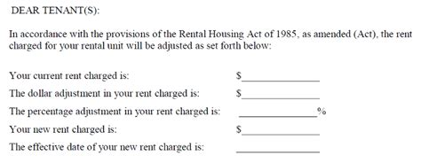 Annual Rent Increase Letter A Letter To The Editor Dc S Office Of The Tenant Advocate Responds To Our Rent Increase