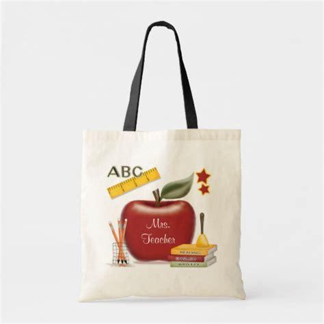 personalized teachers bag zazzle