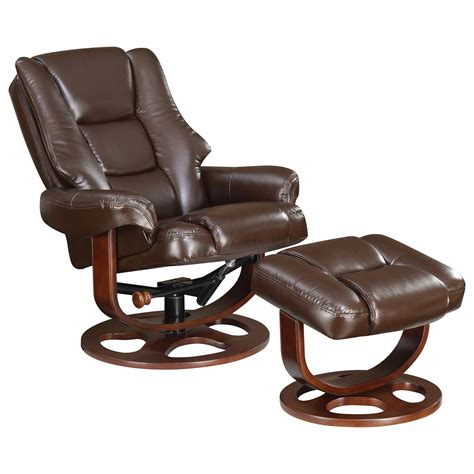 chair with ottoman coaster recliners with ottomans 600086 plush recliner and