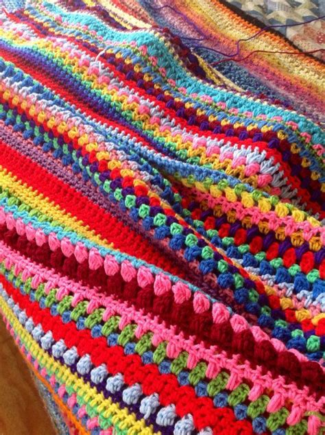 colorful stitches crochet afghan multi stitch colorful rainbow by