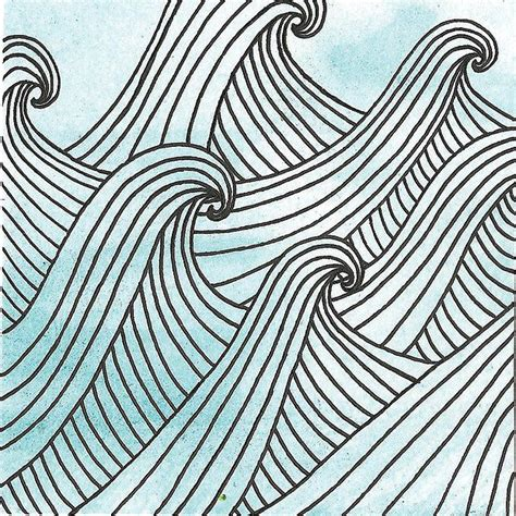zentangle pattern water emily hamilton waves patterns pinterest waves and