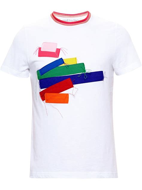 Patchwork T Shirt - patchwork t shirt in white for lyst