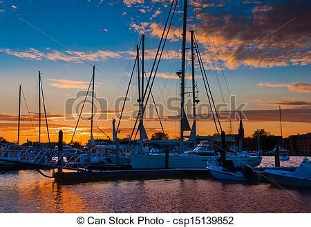boat graphics annapolis stock images of sunset over boats in a marina in annapolis