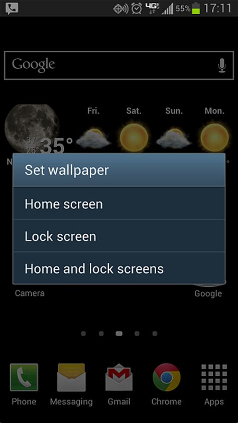 change  wallpaper   lock screen android