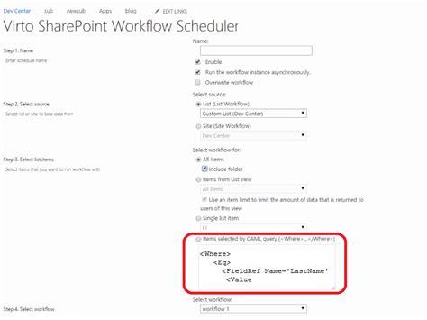 sharepoint scheduled workflow sharepoint workflow scheduler virtosoftware