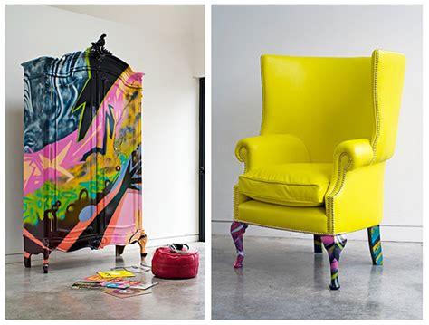 Graffiti Furniture by Graffiti And Furniture Design Fabrics And Frames Furniture