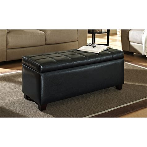 new ottoman luxury leather coffee table crate and barrel round