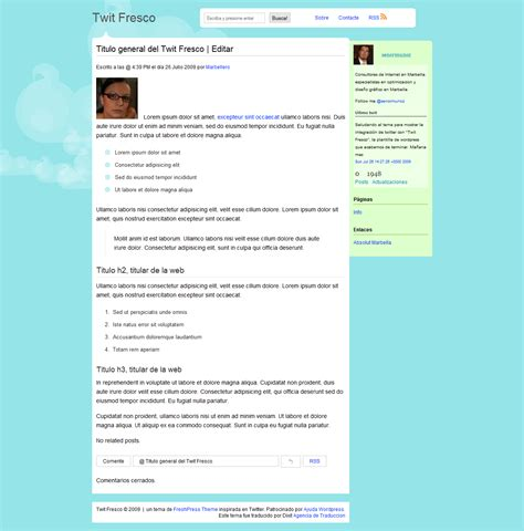 themes en espanol tweet mol 243 n theme wordpress en espa 241 ol
