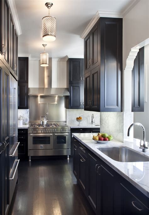 Small Kitchen With Dark Cabinets by One Color Fits Most Black Kitchen Cabinets