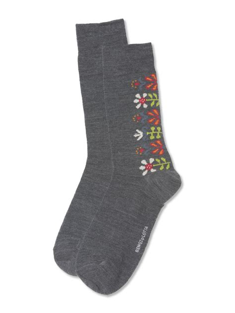Wool Socks merino wool socks with floral design swedish socks