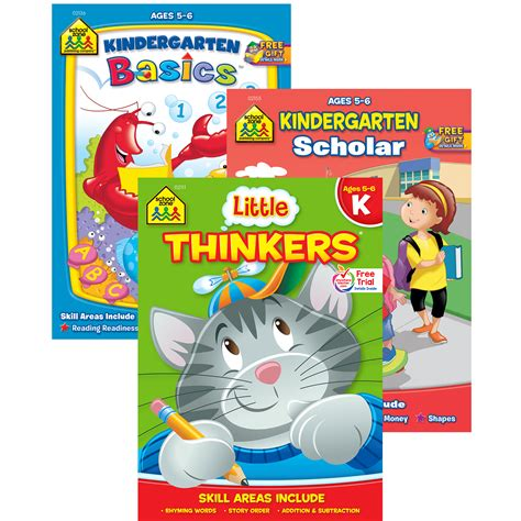 School Zone Kindergarten Stickers And More Workbook kindergarten workbook collection school zone