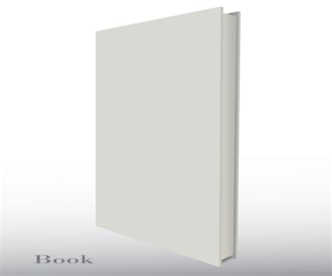 blank empty 3d book cover free template vector ai free
