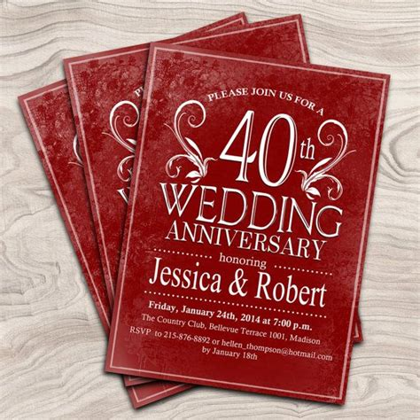 40th anniversary color best 25 35th wedding anniversary ideas on 60