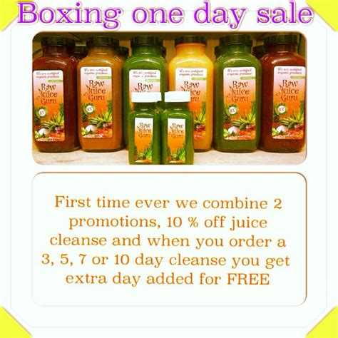 Juice Detox Ontario boxing day juicecleanse promotion let s get you back on