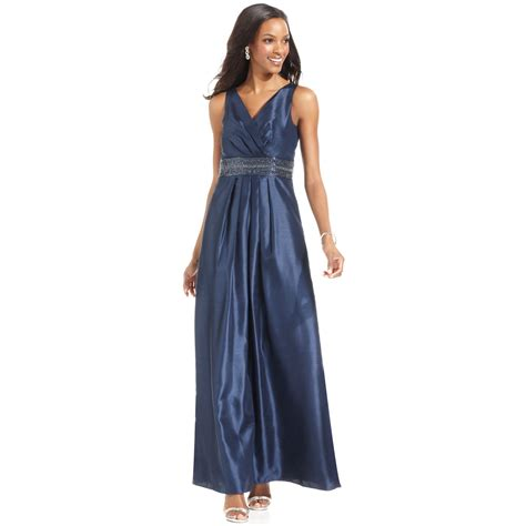 Js Blue lyst js boutique sleeveless beaded gown in blue