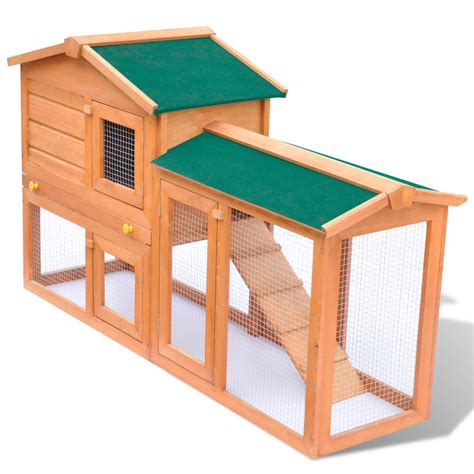 Outdoor Rabbit Hutch outdoor large rabbit hutch small animal house pet cage wood vidaxl