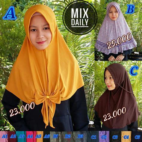 Diskon Kerudung Jilbab Khimar Hanan Sale kerudung mix daily sale sentral grosir jilbab kerudung i supplier jilbab i retail grosir