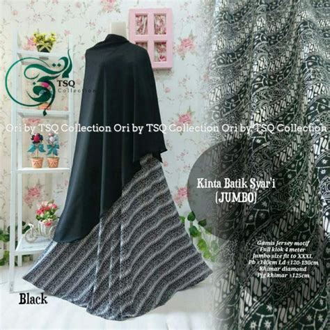 Gamis Jersey Jumbo gamis jumbo b135 kinta syar i batik baju muslim jersey